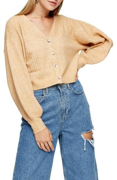 <p>Bring this comfy <span>Balloon Sleeve Crop Cardigan</span> ($50) on your next road trip.</p>