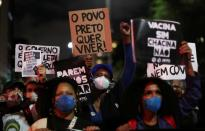 Protest against racism and police violence, in Sao Paulo