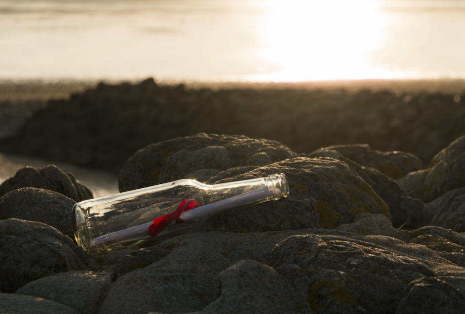 Everyone dreams of finding a message in a bottle on a beach (Picture: Rex)