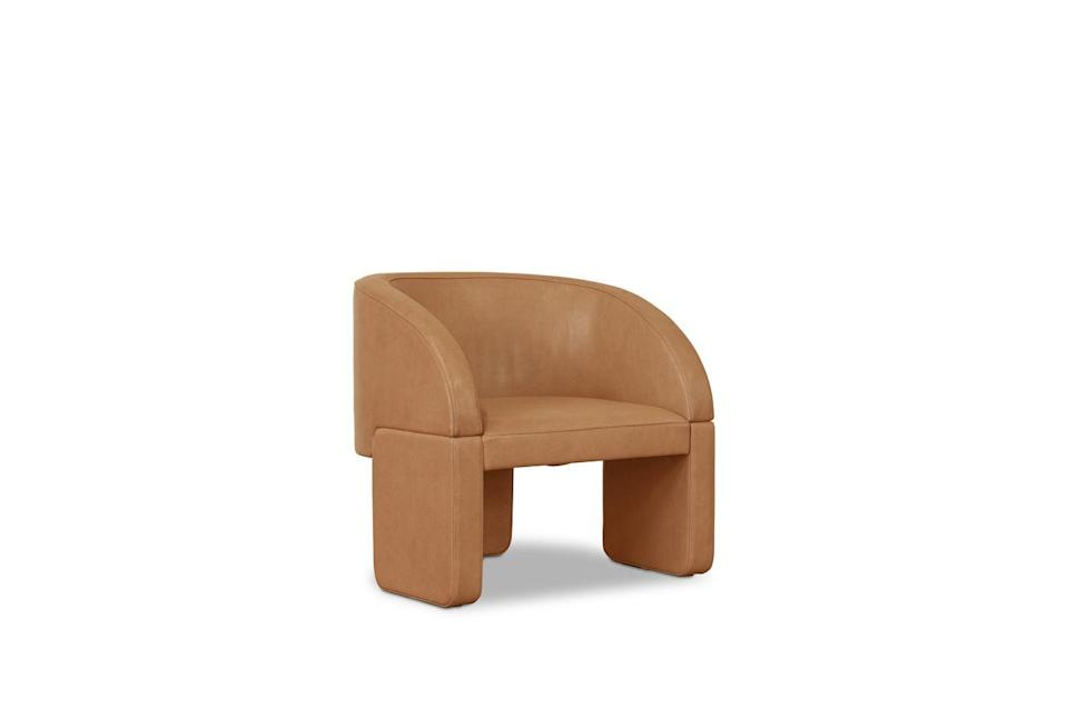 """<p>Pleasingly generous in proportions yet compact enough to slot into smaller spaces, Studiopepe's chunky little chair has a distinctively postmodernist feel – it would make an ideal addition to a bedroom or dressing room. From £3,360, <a href=""""https://www.baxter.it/it"""" rel=""""nofollow noopener"""" target=""""_blank"""" data-ylk=""""slk:baxter.it"""" class=""""link rapid-noclick-resp"""">baxter.it</a></p>"""