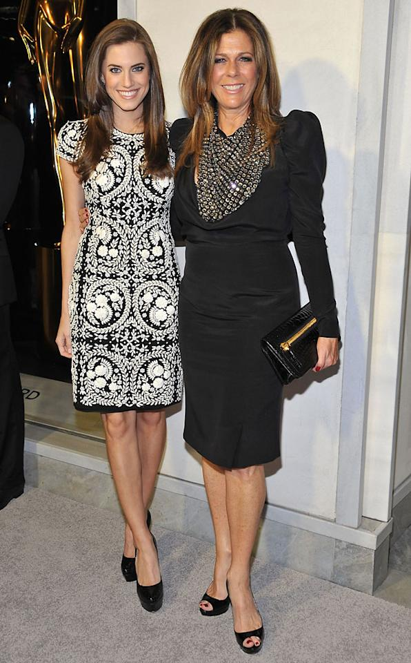 Allison Williams and Rita Wilson attend Tom Ford's cocktail event in support of Project Angel Food at TOM FORD on February 21, 2013 in Beverly Hills, California.
