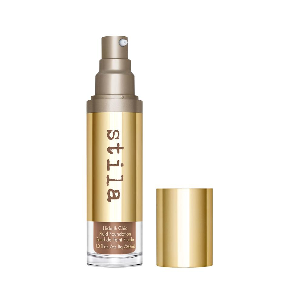 """<p>Shake up this lightweight foundation before applying to get the full benefits of the formula's skin-friendly ingredients (like plant collagen and Irish sea moss). A foundation that works to improve hydration and protect against external impurities? We'll take it. </p> <p>Buy: $39; <a href=""""https://click.linksynergy.com/deeplink?id=93xLBvPhAeE&mid=2417&murl=https%3A%2F%2Fwww.sephora.com%2Fproduct%2Fhide-chic-fluid-foundation-P447130&u1=SL%2CRX_1909SeptemberNewBeautyLaunches_StilaHide%2526ChicFluidFoundation%2Cpshannon1271%2C%2CIMA%2C642137%2C201909%2CI"""" target=""""_blank"""">sephora.com</a> </p>"""