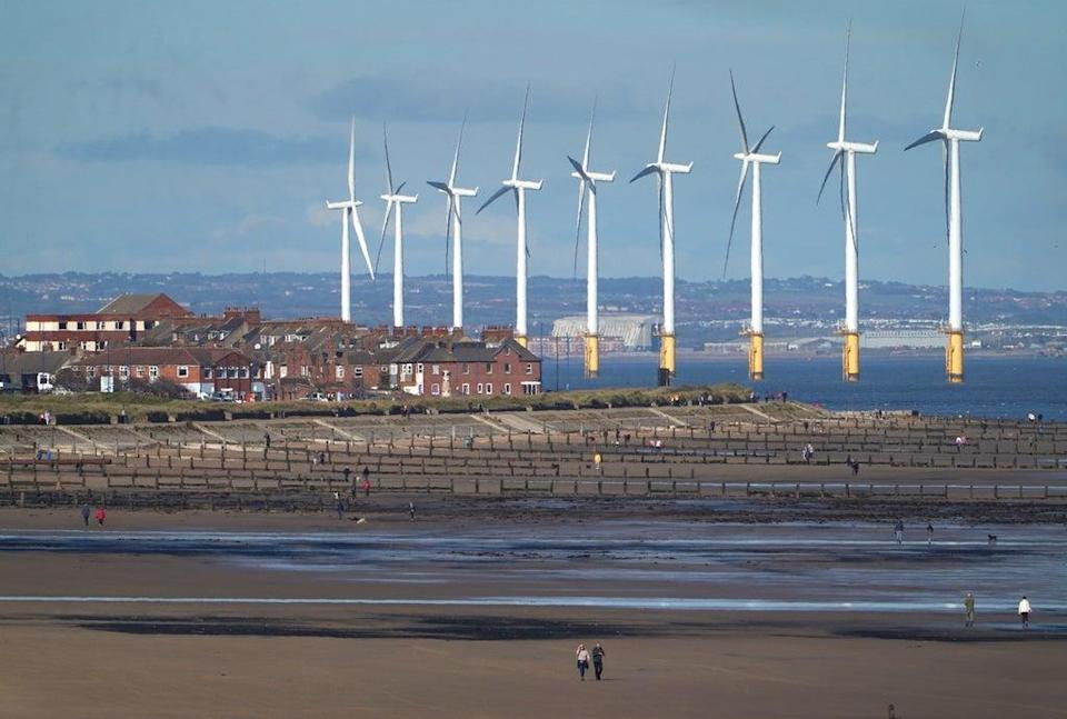 A less-windy summer meant more gas was burned for electricity (Owen Humphreys/PA) (PA Archive)