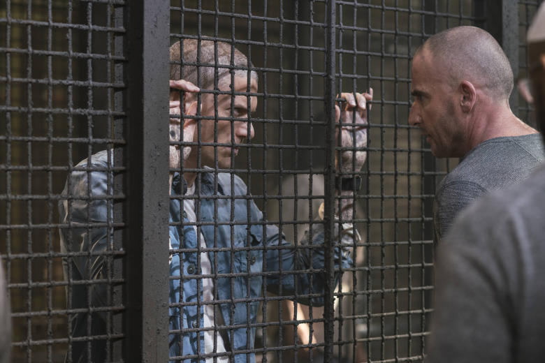 """PRISON BREAK: L-R: Wentworth Miller and Dominic Purcell in the all-new """"Ogygia"""" event series premiere episode of PRISON BREAK airing Tuesday, April 4 (9:00-10:00 PM ET/PT), on FOX. CR: FOX. © 2017 FOX Broadcasting Co."""
