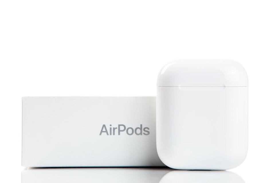 AirPods case and box