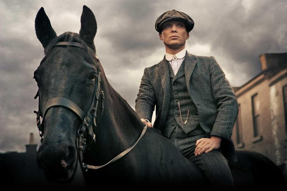 <p>Cillian Murphy on set of Peaky Blinders, which is being transformed in to a vaccination centre</p> (Tiger Aspect)