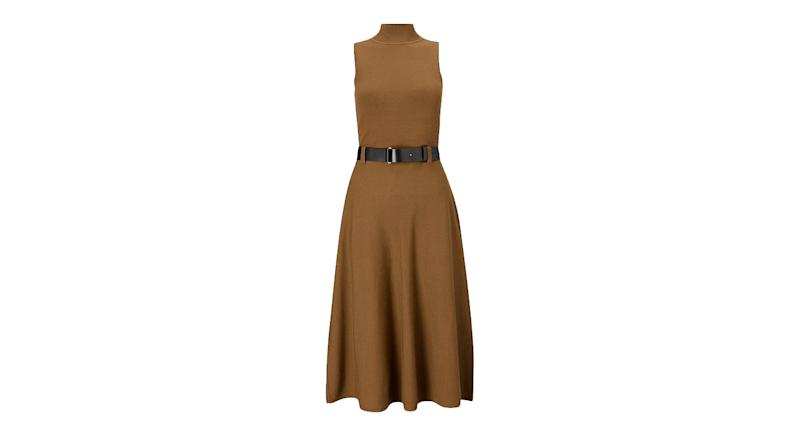 Belted Midi Knit Dress