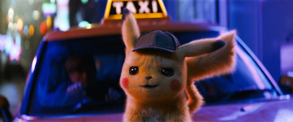 "This image released by Warner Bros. Pictures shows the character Detective Pikachu, voiced by Ryan Reynolds, in a scene from ""Pokemon Detective Pikachu."" In 2019, ""Detective Pikachu,"" based on the Nintendo game, grossed more than $400 million worldwide. (Warner Bros. Pictures via AP)"