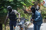 Police are on the lookout for suspected assassins of Haitian President Jovenel Moise outside the Embassy of Taiwan in Port-au-Prince, Haiti on July 9, 2021