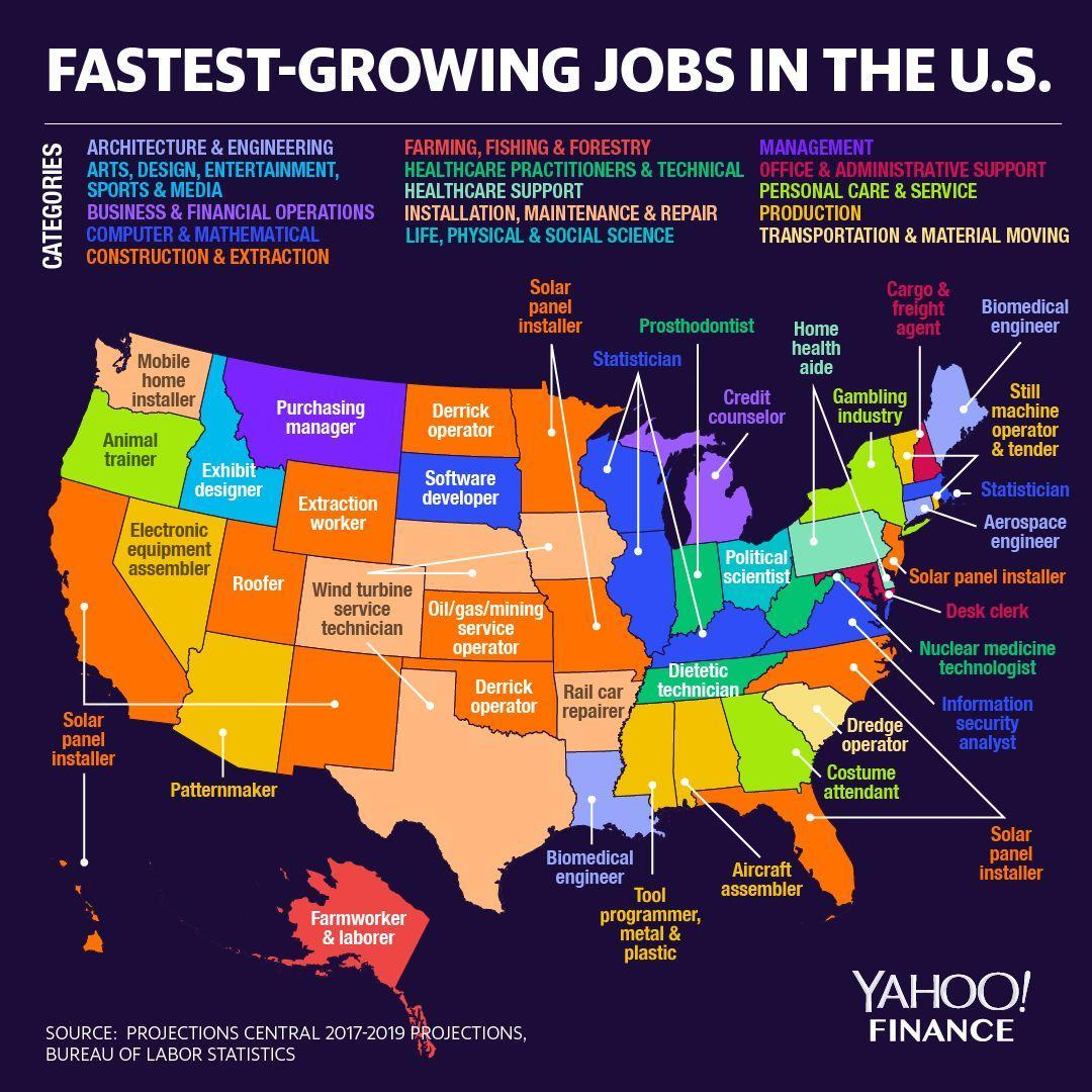 The fastest-growing job in each U S  state