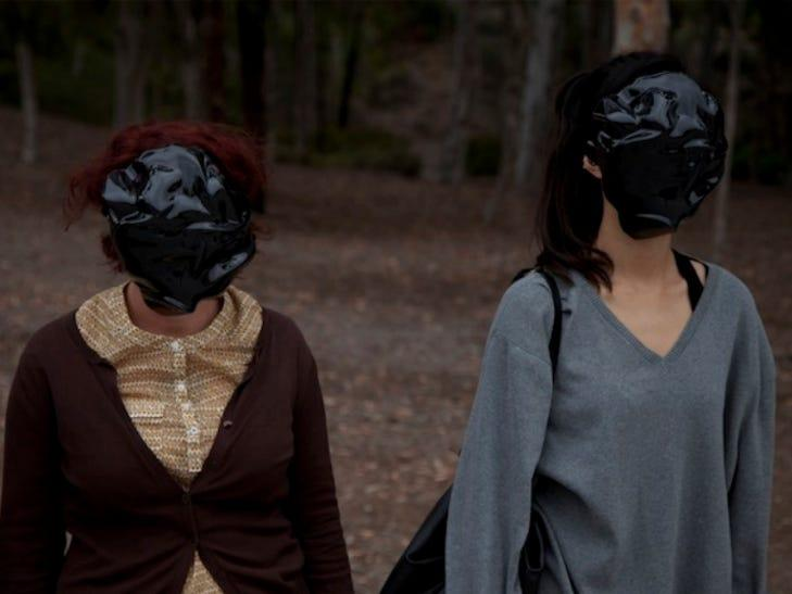 dazzle masks designed to thwart facial recognition