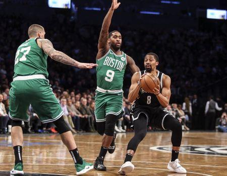 best website 043c3 3536a NBA  Boston Celtics at Brooklyn Nets