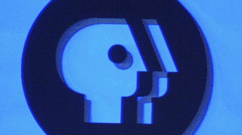 The PBS logo as displayed on a monitor during the PBS 2005 Television Critics Winter Press Tour on January 15, 2005 in Universal City, California.