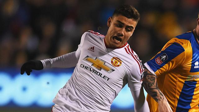 """Manchester United's Brazilian midfielder Andreas Pereira wants to force his way into Jose Mourinho's first team, saying: """"I am ready""""."""