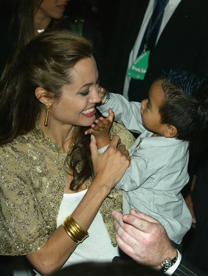 <p>Angelina and Maddox were as cute as can be at the <strong>Shark Tale</strong> premiere during the 2004 Venice Film Festival. </p>