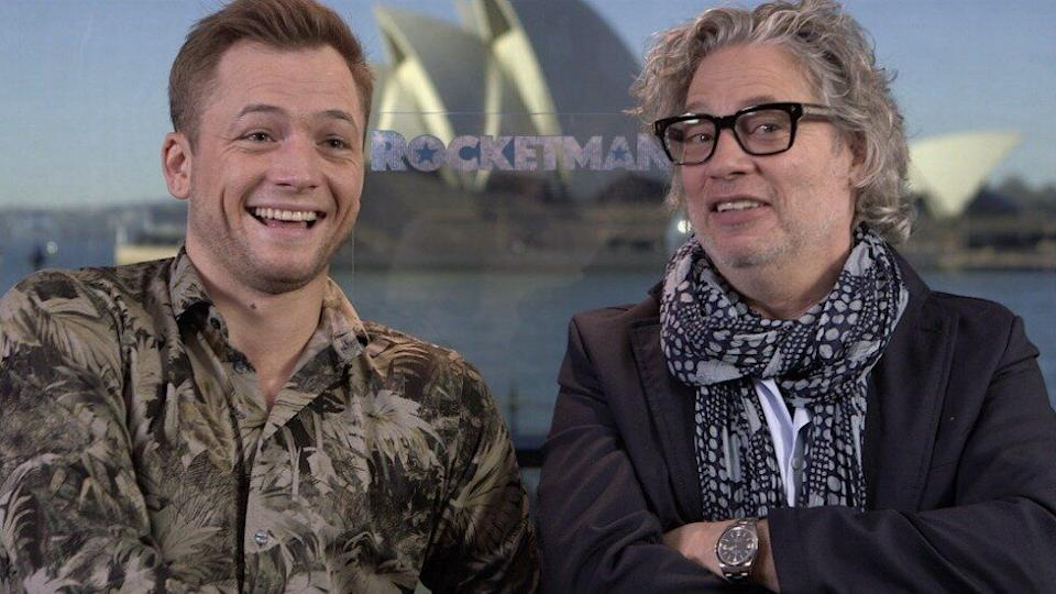 Rocketman's Taron Egerton and Dexter Fletcher sat down with Yahoo Lifestyle to chat about the new Elton John biopic. Photo: Yahoo Lifestyle