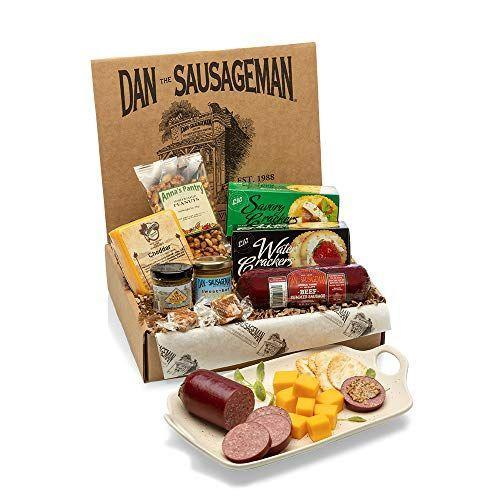 """<p><strong>DAN THE SAUSAGEMAN</strong></p><p>amazon.com</p><p><strong>$39.95</strong></p><p><a href=""""https://www.amazon.com/dp/B00GBB2QQI?tag=syn-yahoo-20&ascsubtag=%5Bartid%7C2139.g.35220362%5Bsrc%7Cyahoo-us"""" rel=""""nofollow noopener"""" target=""""_blank"""" data-ylk=""""slk:BUY IT HERE"""" class=""""link rapid-noclick-resp"""">BUY IT HERE</a></p><p>They say that the way to a man's heart is through his stomach. You'll earn major points when you give him this delicious food gift set.</p>"""