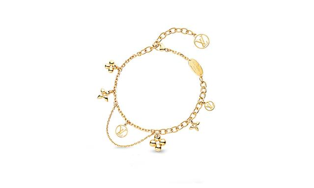 "<p>This lovely charm bracelet will make her day.<br><br>Blooming Supple Bracelet, $480, <a href=""https://us.louisvuitton.com/eng-us/products/blooming-supple-bracelet-nvprod710115v"" rel=""nofollow noopener"" target=""_blank"" data-ylk=""slk:louisvuitton.com"" class=""link rapid-noclick-resp"">louisvuitton.com</a><br><br></p>"