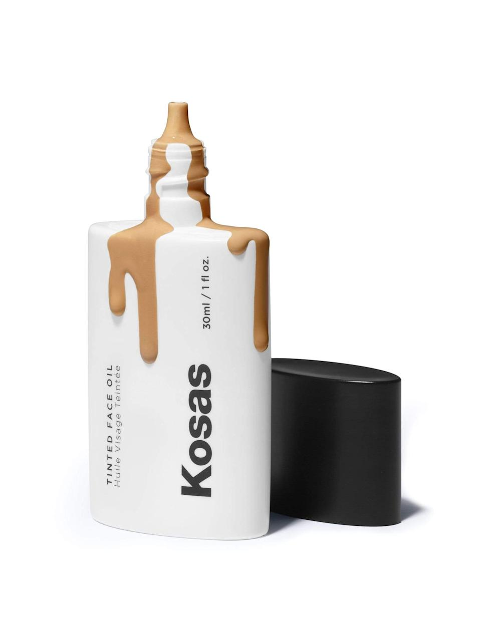 "<h3>Tinted Face Oil</h3><br>Cheekily dubbed as the ""sweatpants of foundation,"" this skin care-makeup hybrid is packed with a blend of plant oils to hydrate and lend a natural glow, while buildable pigments blur and even your complexion.<br><br><strong>Kosas</strong> Tinted Face Oil, $, available at <a href=""https://go.skimresources.com/?id=30283X879131&url=https%3A%2F%2Fkosas.com%2Fproducts%2Ftinted-face-oil-foundation-tone-5-5"" rel=""nofollow noopener"" target=""_blank"" data-ylk=""slk:Kosas"" class=""link rapid-noclick-resp"">Kosas</a>"