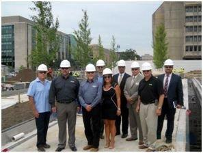 Veterans Service Organizations Tour Construction Site of the American Veterans Disabled for Life Memorial