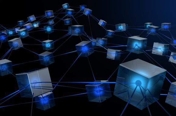A network of connected blocks.