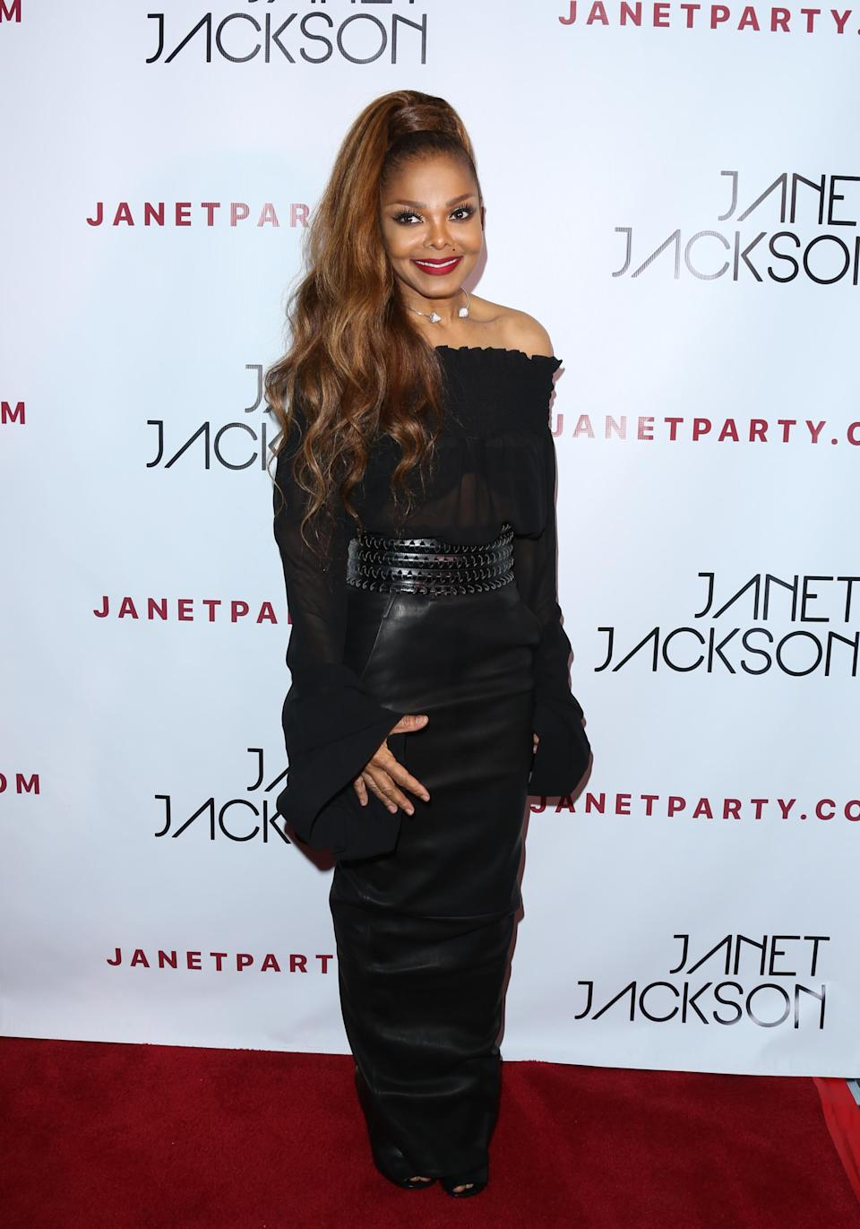 """<p>It must have felt good to Ms. Jackson (you know, if you're nasty) to take a breather at the afterparty for her concert at the iconic Hollywood Bowl. The show was a special one, because many of the singer's former backup dancers, <a rel=""""nofollow"""" href=""""https://www.yahoo.com/entertainment/janet-jackson-reunites-former-backup-123606884.html"""" data-ylk=""""slk:including Jenna Dewan Tatum;outcm:mb_qualified_link;_E:mb_qualified_link;ct:story;"""" class=""""link rapid-noclick-resp yahoo-link"""">including Jenna Dewan Tatum</a>, joined her onstage for a reunion during it. (Photo: Paul Archuleta/FilmMagic) </p>"""