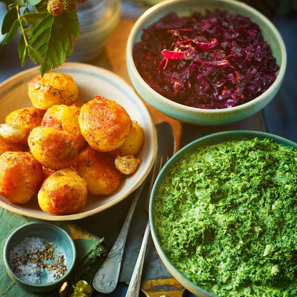 "<p>Once the initial softening is done, this dish is pretty hands-off, leaving you plenty of time to focus on other things.</p><p><strong>Recipe: <a href=""https://www.goodhousekeeping.com/uk/food/recipes/a29400233/honey-mustard-cabbage/"" rel=""nofollow noopener"" target=""_blank"" data-ylk=""slk:Honey Mustard Red Cabbage"" class=""link rapid-noclick-resp"">Honey Mustard Red Cabbage</a></strong></p>"