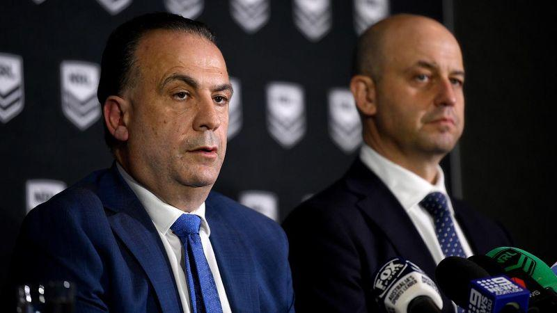 Peter V'Landys and Todd Greenberg. Image: AAP