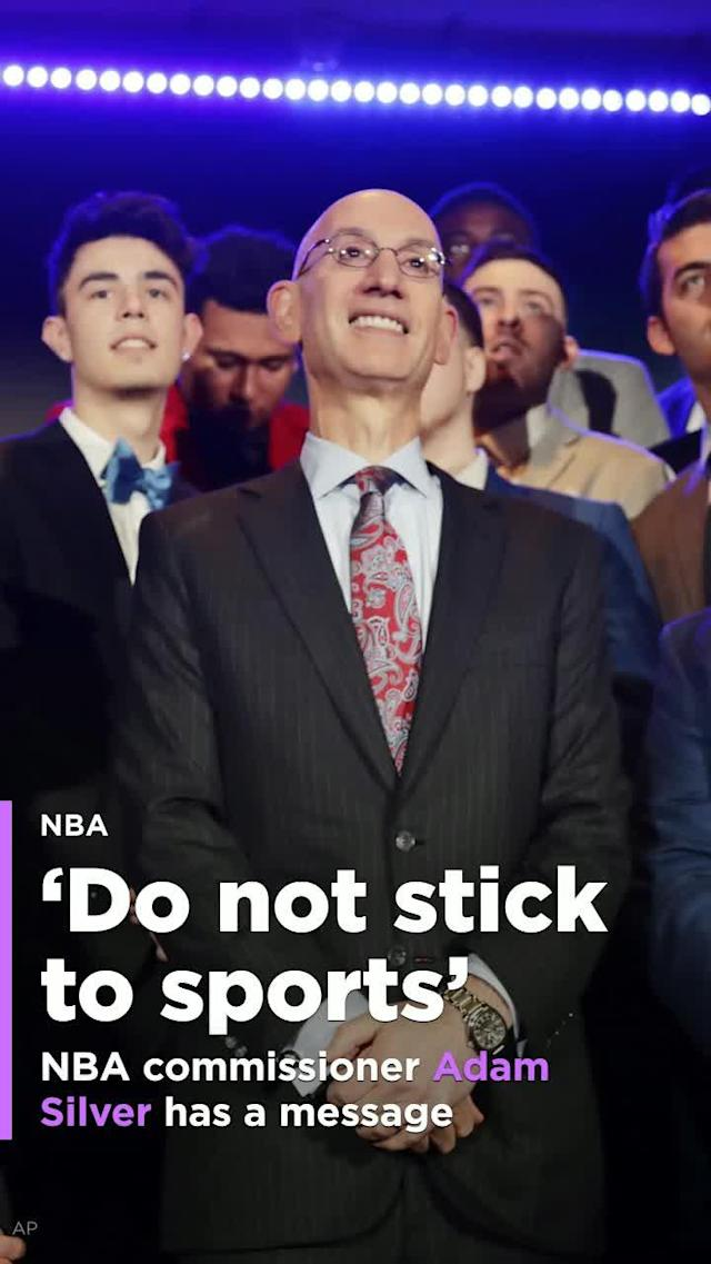 "NBA commissioner Adam Silver had a clear social message at Wednesday's Sports Business Awards. ""Do not stick to sports."""