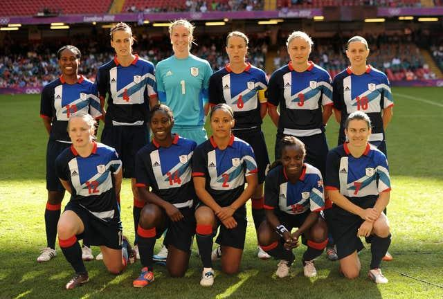 Stoney (back row, third from right) and Aluko (front row, second from right) were both part of the Great Britain squad at the London 2012 Olympics (Andrew Matthews/PA).