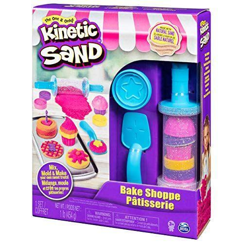 """<p><strong>Kinetic Sand</strong></p><p>amazon.com</p><p><strong>$9.54</strong></p><p><a href=""""https://www.amazon.com/dp/B07K3WCWT2?tag=syn-yahoo-20&ascsubtag=%5Bartid%7C10070.g.34430618%5Bsrc%7Cyahoo-us"""" rel=""""nofollow noopener"""" target=""""_blank"""" data-ylk=""""slk:Shop Now"""" class=""""link rapid-noclick-resp"""">Shop Now</a></p><p>They'll be able to make the cutest (and cleanest) pastries with this Kinetic Sand kit. The Sand's unique formula allows it to maintain it's shape while simultaneously being manipulated, so the sky is the limit as to which shape your toddler molds their unique pastries. The bake shop comes with 16 tools and molds that'll make them feel like they're on <em>The Great British Baking Show</em>. <br></p>"""