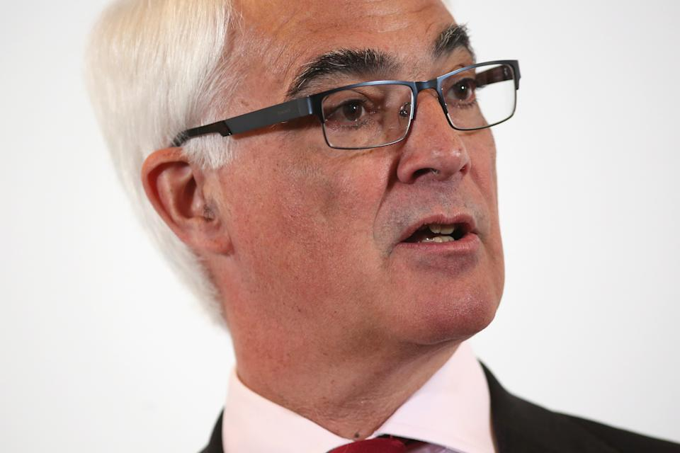 LONDON, ENGLAND - APRIL 15:  British Labour Party politician and former Chancellor of the Exchequer Alistair Darling speaks to journalists about the benefits of EU membership at One Great George Street on April 15, 2016 in London, England. Mr Darling set out his core economic argument for Britain remaining in the European Union as part of the 'Stronger In' campaign.  (Photo by Dan Kitwood/Getty Images)