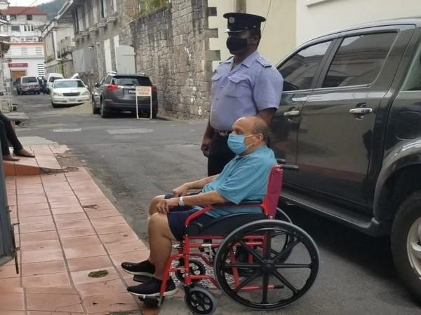 Indian fugitive businessman Mehul Choksi arriving at Dominican court on wheelchair. (Photo Credit - Antigua News Room)