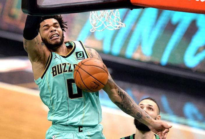 Charlotte Hornets forward Miles Bridges will not play versus the Detroit Pistons Tuesday, due to NBA health and safety protocols, and could be out for a considerable period late in the season.