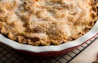 """<p>There are plenty of <a href=""""https://www.thedailymeal.com/cook/americas-best-apple-pies?referrer=yahoo&category=beauty_food&include_utm=1&utm_medium=referral&utm_source=yahoo&utm_campaign=feed"""" rel=""""nofollow noopener"""" target=""""_blank"""" data-ylk=""""slk:places to get a good apple pie"""" class=""""link rapid-noclick-resp"""">places to get a good apple pie</a>, but nothing compares to the apple pie that comes straight from your kitchen. Chop up the apples and make your crust early, it'll still have all of those tart and cinnamon flavors when it's reheated.</p> <p><a href=""""https://www.thedailymeal.com/recipes/classic-apple-pie?referrer=yahoo&category=beauty_food&include_utm=1&utm_medium=referral&utm_source=yahoo&utm_campaign=feed"""" rel=""""nofollow noopener"""" target=""""_blank"""" data-ylk=""""slk:For the Apple Pie recipe, click here."""" class=""""link rapid-noclick-resp"""">For the Apple Pie recipe, click here.</a></p>"""