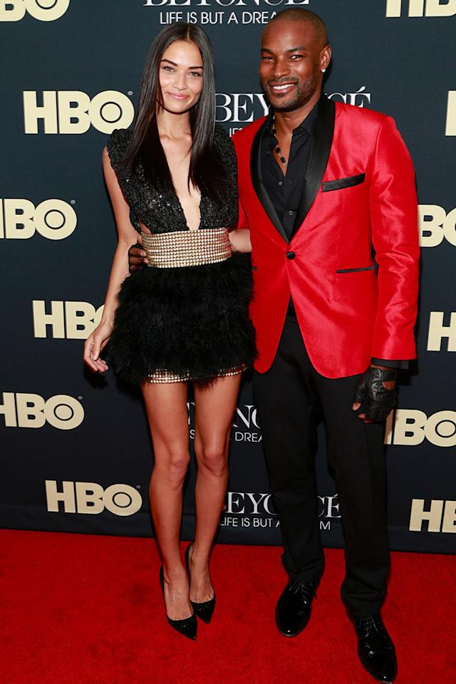 "Shanina Shaik and Tyson Beckford attend the ""Beyonce: Life Is But A Dream"" New York Premiere at Ziegfeld Theater on February 12, 2013 in New York City."