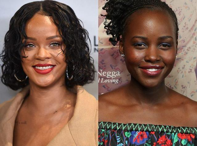 Rihanna and Lupita Nyong'o (Photo: Getty Images)