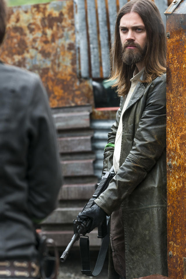 <p>Tom Payne as Paul 'Jesus' Rovia in AMC's <i>The Walking Dead</i>.<br>(Photo: Gene Page/AMC) </p>