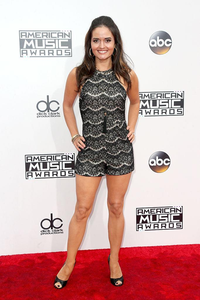 <p>Danica McKellar made her romper less casual with some black high heels. <em>(Photo: Getty Images)</em> </p>