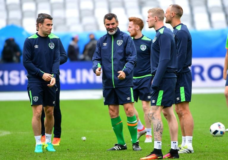 Ireland have won their last three World Cup qualifying group games but assistant manager Roy Keane (C) knows their players will have to be at their very best to stop Wales