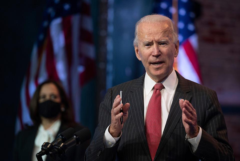 <p>Joe Biden met with the top House and Senate Democratic leaders on Friday as Donald Trump sought yet another long shot path to a second term.</p> (AFP via Getty Images)