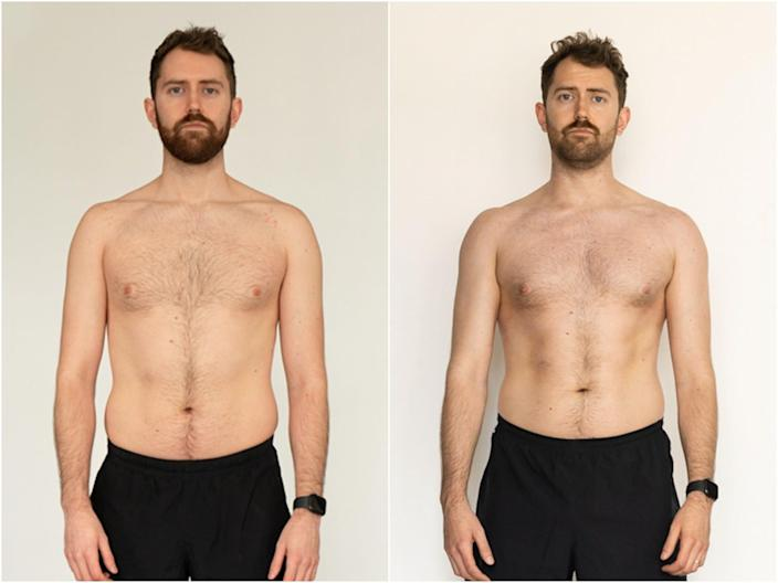 Cam Jones before and after intermittent fasting
