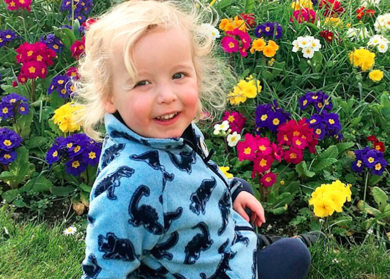 Xander Irvine, three, was killed after being hit by a car in Edinburgh. (SWNS)