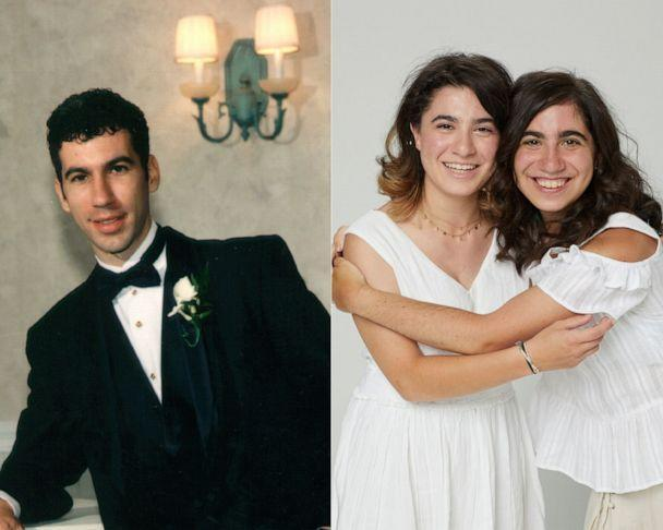 PHOTO: Steven Russin pictured alongside a 2021 photo of his daughters.  (Russin family/ABC)