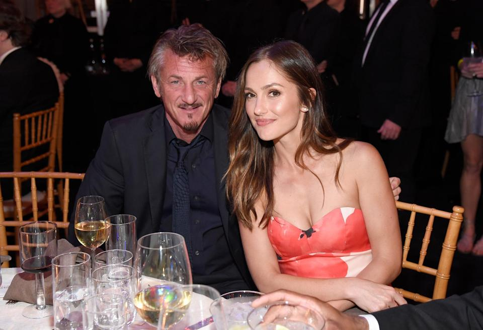 """<p>In April 2016, Minka and Sean sparked relationship rumors after they were <a href=""""http://www.usmagazine.com/celebrity-news/news/sean-penn-minka-kelly-look-like-a-couple-at-gala-whats-going-on-w202708"""" class=""""link rapid-noclick-resp"""" rel=""""nofollow noopener"""" target=""""_blank"""" data-ylk=""""slk:photographed together looking like a couple"""">photographed together looking like a couple</a> at a charity dinner in LA. <strong>Us Weekly</strong> reported that the two """"got along great and had a great time"""" but were just friends.</p>"""