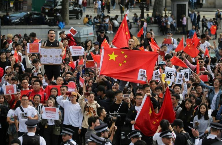 Chinese students in Britain have regularly taken part in rallies countering those held to support Hong Kong's democracy protest movement