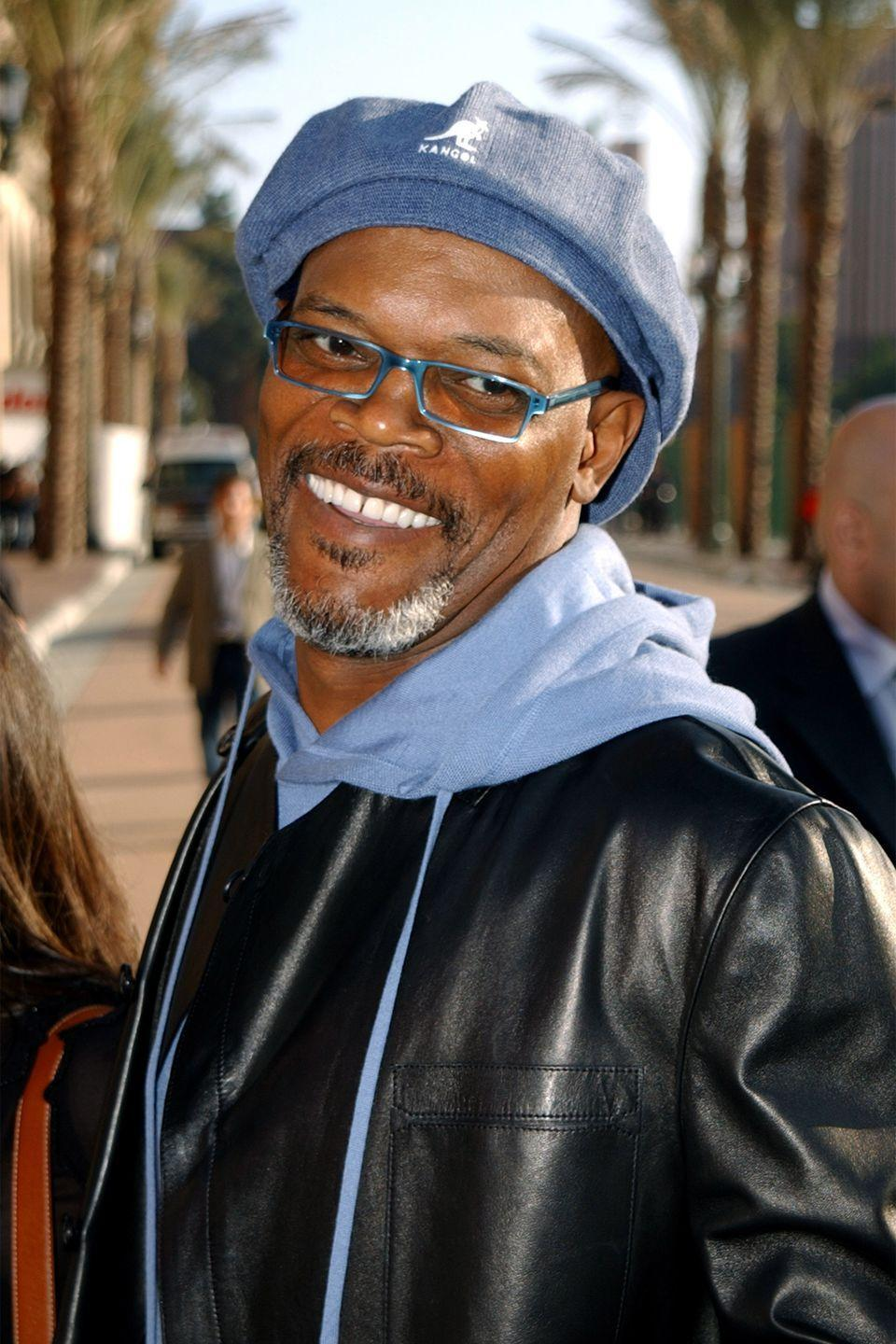 "<p>Actor Samuel L. Jackson is rarely seen without his trusty Kangol hat, no matter the occasion. He even <a href=""https://www.amazon.com/Kangol-Samuel-Jackson-P2i-Golf/dp/B01M4QE5UA?tag=syn-yahoo-20&ascsubtag=%5Bartid%7C10063.g.35716941%5Bsrc%7Cyahoo-us"" rel=""nofollow noopener"" target=""_blank"" data-ylk=""slk:partnered"" class=""link rapid-noclick-resp"">partnered</a> with the brand on his own line. From talk show appearances to red carpet photo ops, the hat has become a key part of the actor's style. We can only imagine how many he actually owns. </p>"