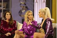 """<p><em>Real Housewives of Beverly Hills </em>star Kyle Richards told <em><a href=""""https://www.foxnews.com/entertainment/kyle-richards-dishes-on-behind-the-scenes-bravo-secrets-describes-torture-of-reunion-episodes"""" rel=""""nofollow noopener"""" target=""""_blank"""" data-ylk=""""slk:Fox News"""" class=""""link rapid-noclick-resp"""">Fox News</a> </em>that producers act fast when the women arrive on-set for the reunion: """"We all go to our rooms—they like to keep us separate because they don't want any conversations to happen off camera because they want everything to happen on camera.""""</p>"""