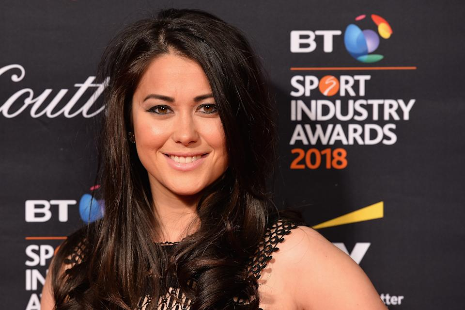 LONDON, ENGLAND - APRIL 26:  Sam Quek arrives at the red carpet during the BT Sport Industry Awards 2018 at Battersea Evolution on April 26, 2018 in London, England. The BT Sport Industry Awards is the largest commercial sports awards in the world. Bringing together sports stars, celebrities, senior decision makers, influencers and global media, the industry's most anticipated night of the year celebrates the very best work from across the sector.  (Photo by Jeff Spicer/Getty Images for BT Sport Industry Awards)