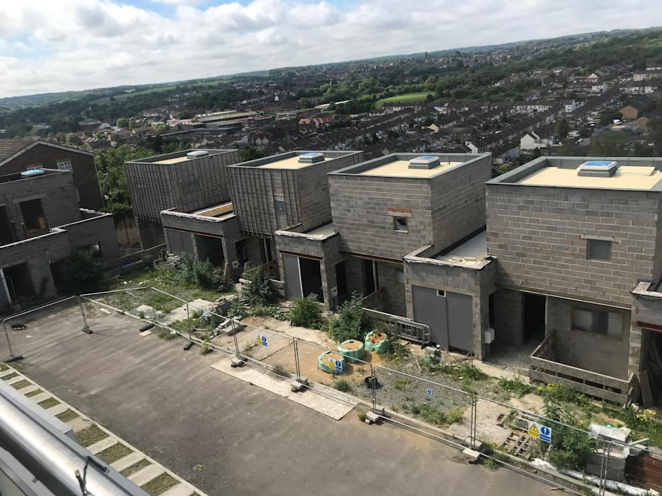 The unfinished estate in Chatham, Kent. (SWNS)